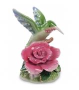 Статуэтка «Колибри на розе»