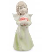 Фарфоровая статуэтка «Ангел с сердечком»