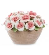 Фарфоровая статуэтка «Корзинка роз»