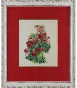 Вышитая картина «Розовые ромашки»