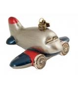 "Елочная игрушка ""Самолет 60-х"""