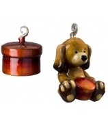 Набор елочных игрушек «Щенок с подарком»