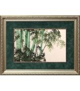 Шелковая картина «Бамбуковая роща»