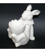 Фарфоровая статуэтка кролика (подставка под яйцо)