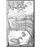 Подарочная картина «Два лебедя»