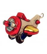 Елочная игрушка «Веселый самолетик»