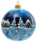 Елочный шар «Зимний пейзаж»