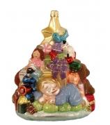Елочная игрушка «Малыш и елочка с подарками»