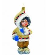 Елочная игрушка «Малышка в шубке»