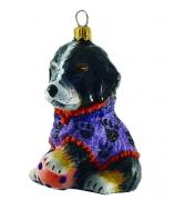 Елочная игрушка «Собака с мячиком»
