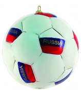 Елочная игрушка «Футбольный мяч России»