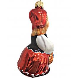 Коллекционная ёлочная игрушка «Красная шапочка»