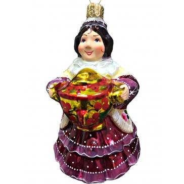 Коллекционная ёлочная игрушка «Купчиха»
