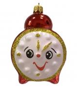 Ёлочная игрушка «Красный будильник»
