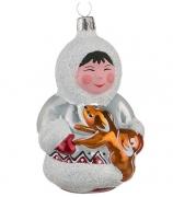 Ёлочная игрушка «Малыш с собачкой»