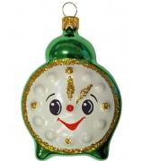 Ёлочная игрушка «Зеленый будильник»