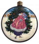 Елочный шар-диск «Дама с тростью»