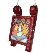 Расписной сувенир-саночки «Лепим снеговика»