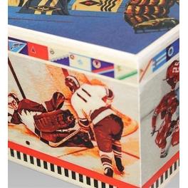 Набор елочных игрушек «Хоккеисты» в деревянном ларце