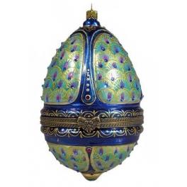 Новогодний сувенир в виде шкатулки «Павлин», тонкая ручная работа