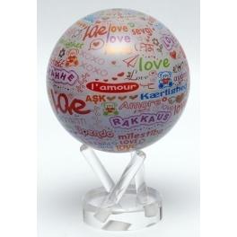 Глобус самовращающийся настольный «Я тебя люблю»
