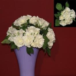 Декоративный букет из 9-ти цветов «Розы»