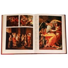 Подарочная книга в кожаном переплете «Шедевры мировой живописи»