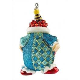 Ёлочная игрушка из стекла «Клоун – выверни карманы», расписана вручную, 11х17 см