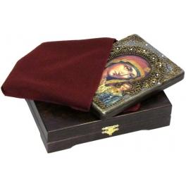 Живописная икона Владимирской Божьей Матери на доске из кипариса