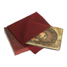 Живописная икона Казанской Божьей Матери на доске из кипариса