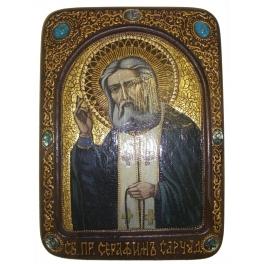 Живописная икона «Преподобный Серафим Саровский Чудотворец»