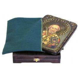 Живописная икона «Святитель Николай, архиепископ Мир Ликийских, чудотворец»