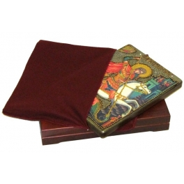 Живописная икона «Чудо Святого Георгия о змие» в шкатулке