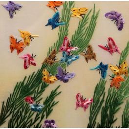 Вышитая картина «Бабочки»