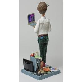 Коллекционная авторская статуэтка «Компьютерный гений», Forchino, Франция