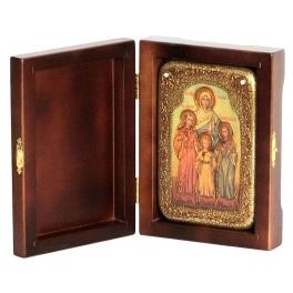 Подарочная икона «Вера, Надежда, Любовь и мать их София» деревянной в шкатулке.