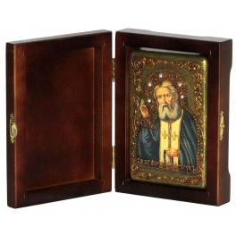 Икона «Преподобный Серафим Саровский Чудотворец» в подарочной шкатулке