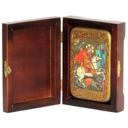 Икона «Святой Георгий Победоносец», в подарочной шкатулке