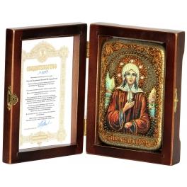 Икона «Святая Блаженная Ксения Петербургская», подарочная