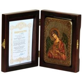 Икона «Ангел Хранитель», подарочная, на дубовой доске.