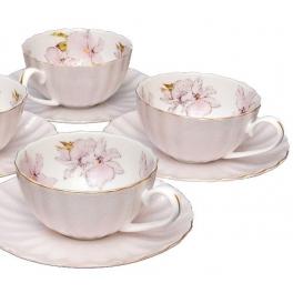 Чайный набор на 4 персоны «София» розовый