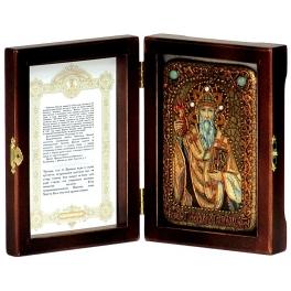 Икона «Святитель Спиридон Тримифунтский» в деревянной шкатулке
