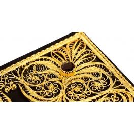 Коран (с филигранью) в кожаном переплете