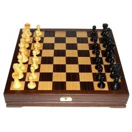 Шахматы классические деревянные с утяжелителем. Доска 36х36 см