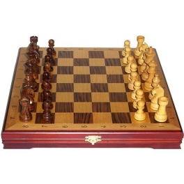 Шахматы классические деревянные. Доска 36х36 см