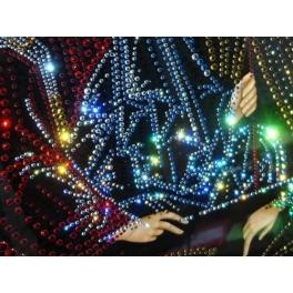 Икона инкрустированная кристаллами Swarovski «Троица»