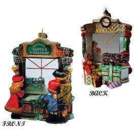 Елочная игрушка из стекла «Рождественская витрина», 16 х 12 см