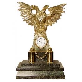 Часы из бронзы «Двуглавый орел»