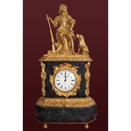 Каминные часы из бронзы «Охотник»