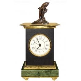 Часы из бронзы «Дельфин»
